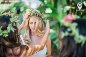 Ann Johnson Events Bohemian Santa Barbara Wedding Bride